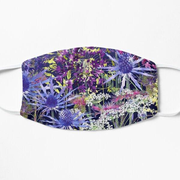 Midnight Garden - Sea Holly, Alliums, Cow Parsley & Grasses Flat Mask