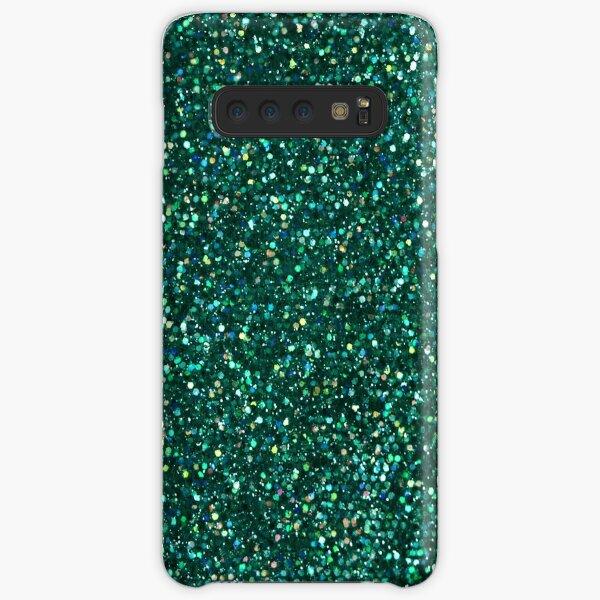 Sparkly Jade Green Peacock Glitter Samsung Galaxy Snap Case