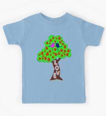 °•Ƹ̵̡Ӝ̵̨̄Ʒ♥Sweet Lovebirds Kissing on a Romantic Love Tree Clothing & Stickers♥Ƹ̵̡Ӝ̵̨̄Ʒ•° Kids Tee