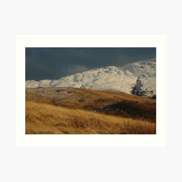 Winter Light above Cuil Bay Art Print
