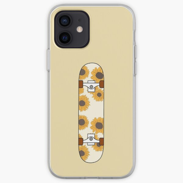 Sunflower Pattern Skateboard iPhone Soft Case