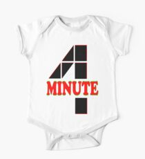 ㋡♥♫Hot Fabulous K-Pop Girl Group-4Minute Clothing & Stickers♪♥㋡ One Piece - Short Sleeve