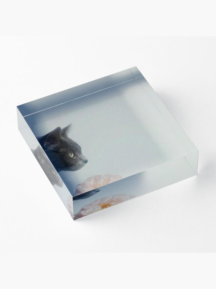 Alternate view of Russian Blue Acrylic Block