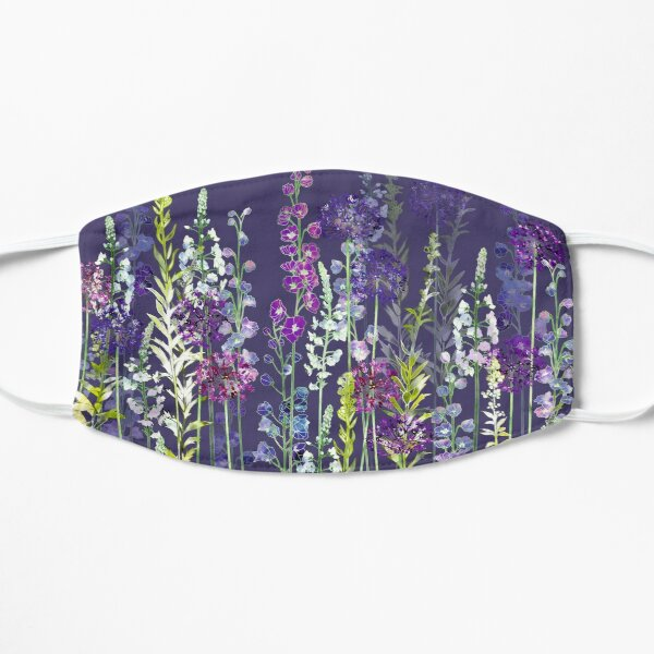 Purple Flower Meadow - Alliums, Delphiniums & Veronica Gentianoides Flat Mask