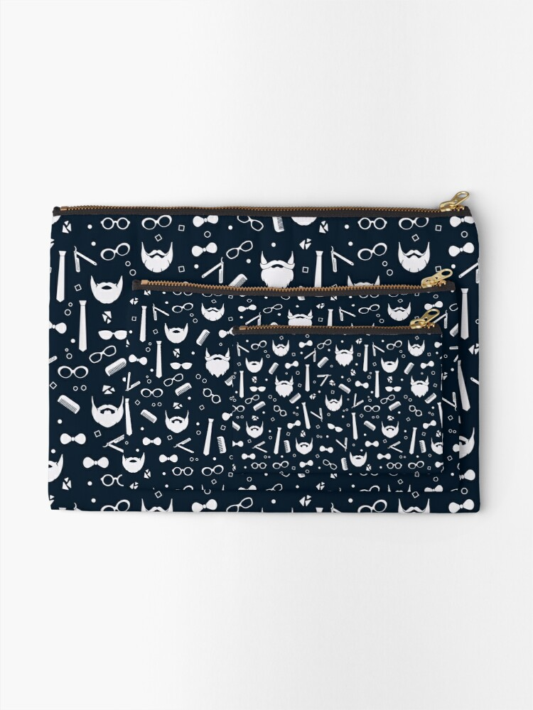 Alternate view of Hipster Fashion Seamless Pattern Zipper Pouch