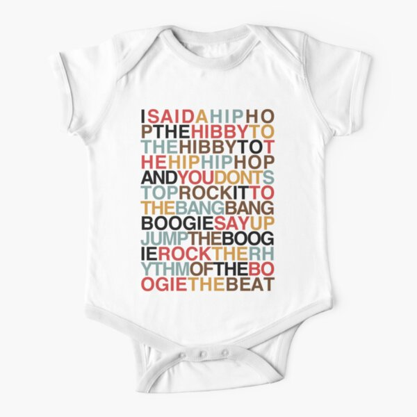 Rapper's Delight - Sugarhill Gang Short Sleeve Baby One-Piece
