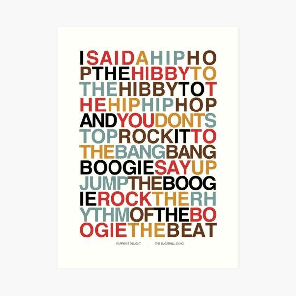 Rapper's Delight - Sugarhill Gang Impression artistique