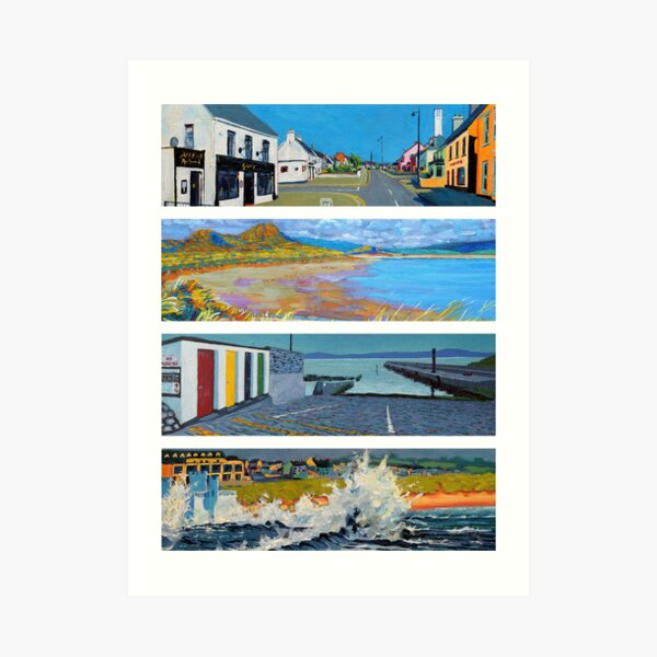 Enniscrone, 4 Views (Sligo, Ireland) Art Print