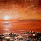 Red Ocean Sunset by Cherie Roe Dirksen