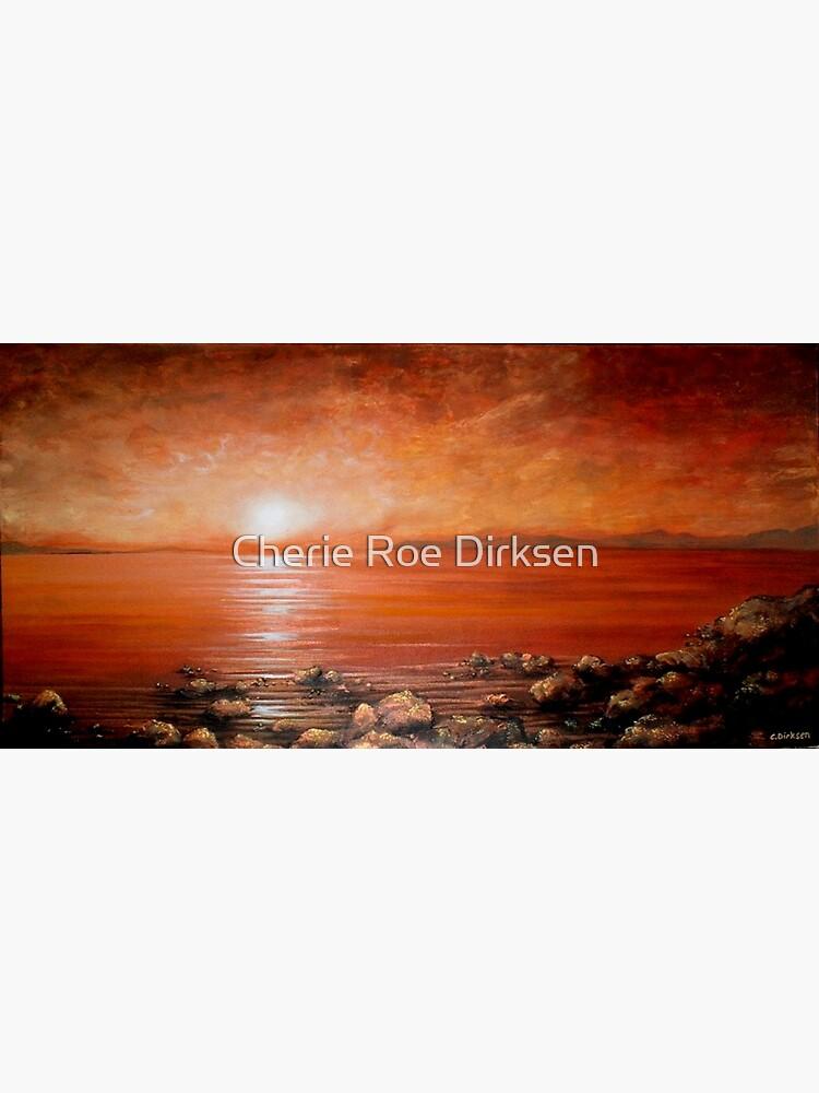 Red Ocean Sunset by cheriedirksen