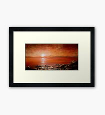 Red Ocean Sunset Framed Print