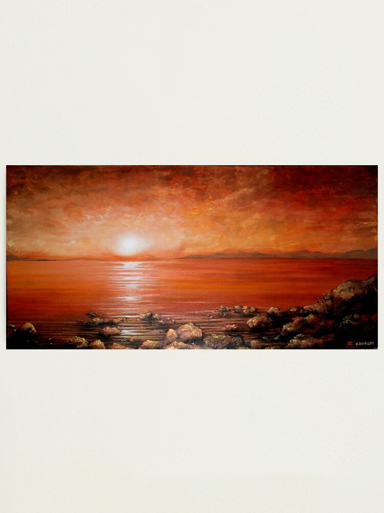 Alternate view of Red Ocean Sunset Photographic Print