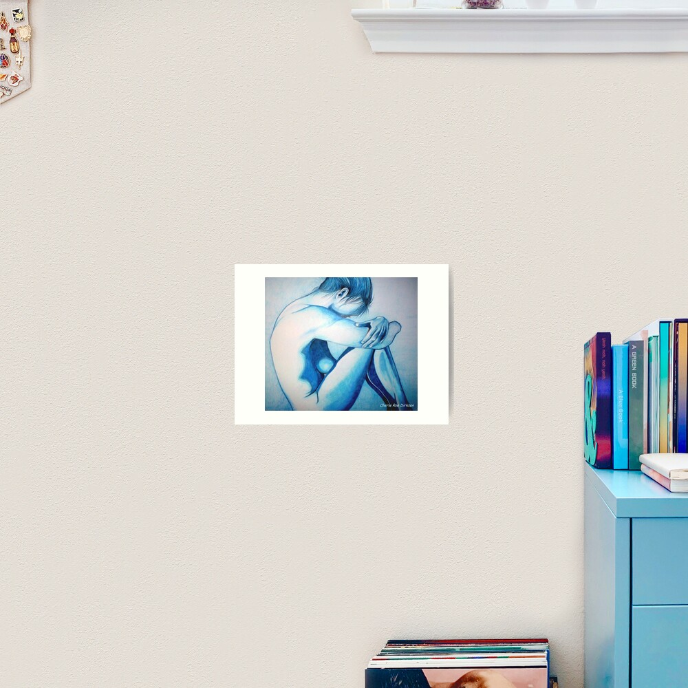 Caught up in Blue Art Print