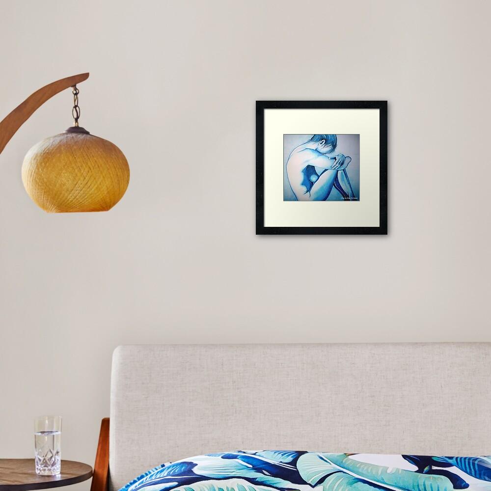 Caught up in Blue Framed Art Print