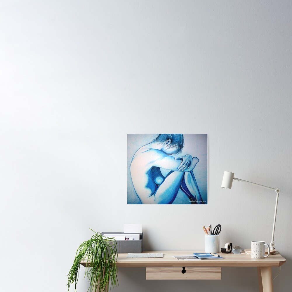 Caught up in Blue Poster