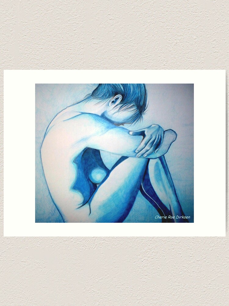 Alternate view of Caught up in Blue Art Print