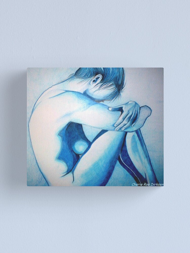 Alternate view of Caught up in Blue Canvas Print