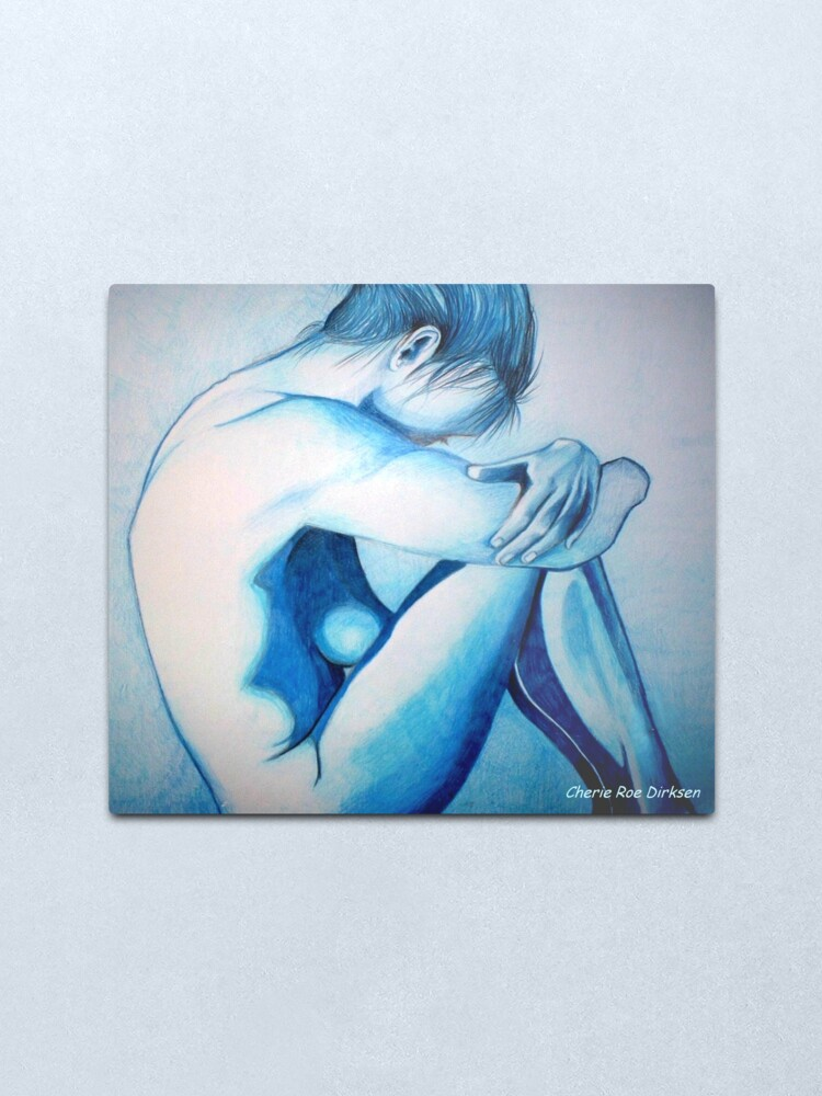 Alternate view of Caught up in Blue Metal Print