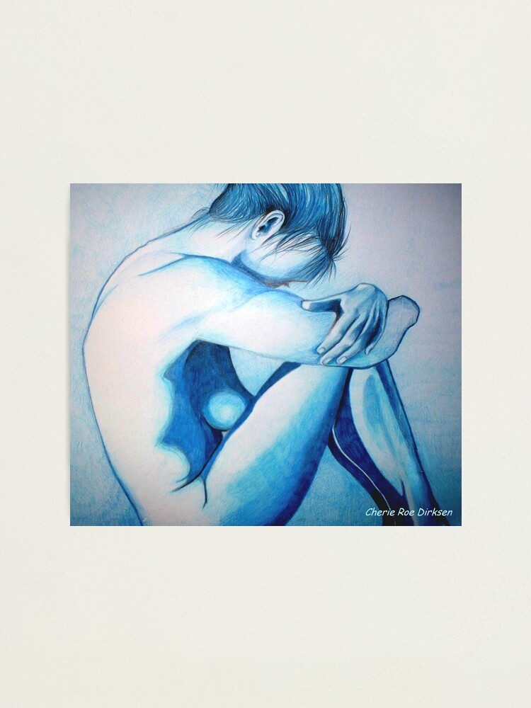 Alternate view of Caught up in Blue Photographic Print