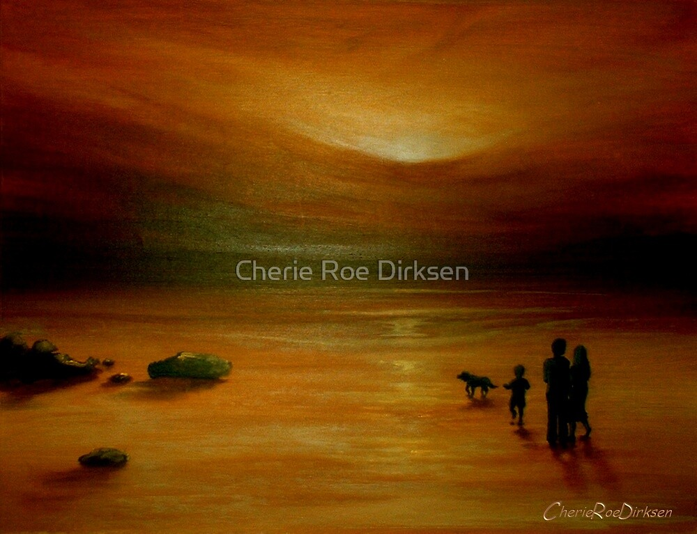 A Walk on the Beach by Cherie Roe Dirksen