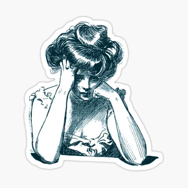 Müde Gibson Girl Sticker