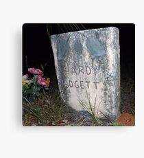 Padgett Grave Stone Artistic Photograph by Shannon Sears Canvas Print