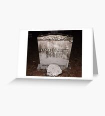 Padgett Tomb Stone Artistic Photograph by Shannon Sears Greeting Card