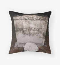 Padgett Tomb Stone Artistic Photograph by Shannon Sears Throw Pillow