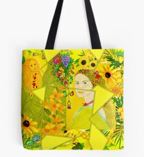 Spring and Summer Collage Tote Bag