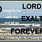 Psalms 34:3 by Paula Tohline  Calhoun