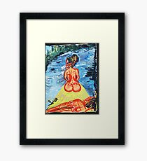 WOMEN ON A JOURNEY - acrylic, tempera, paper 18 x 24 Framed Print