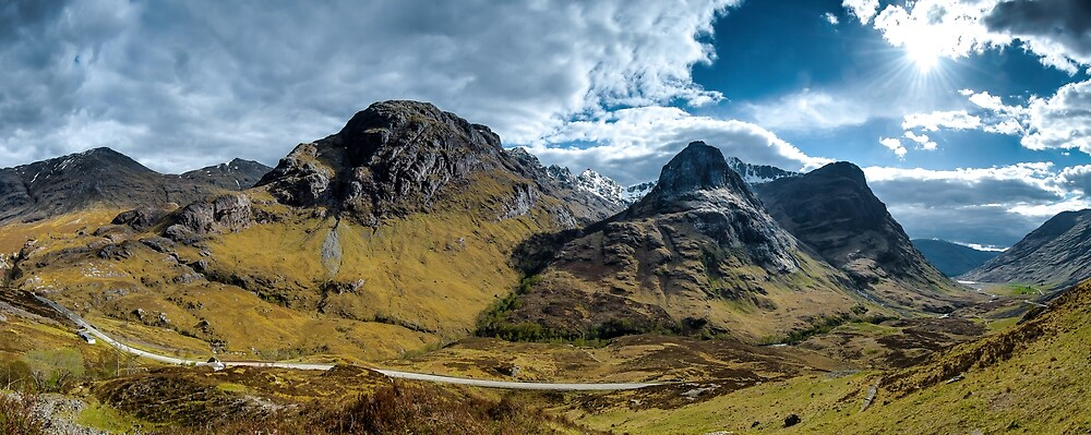 Glencoe Panorama by Richard Youell