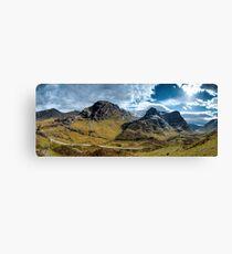 Glencoe Panorama Canvas Print