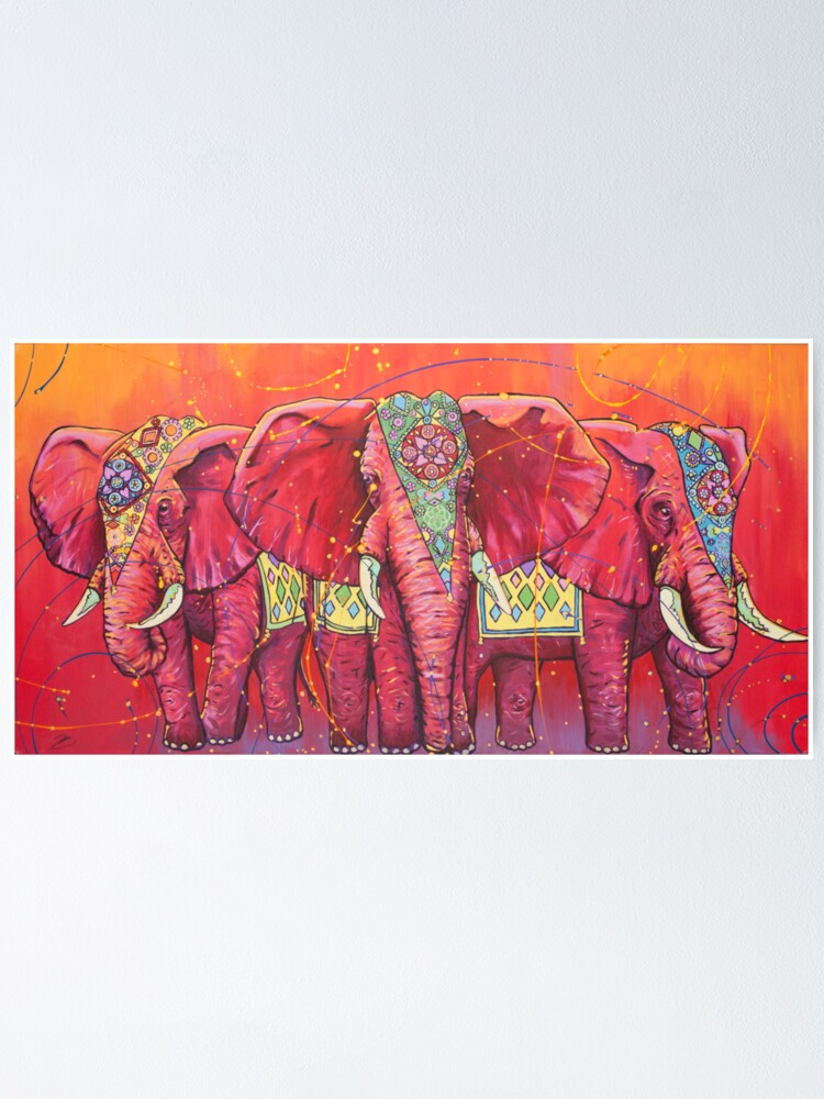 Alternate view of The Universal Indian Elephants, #69 Poster