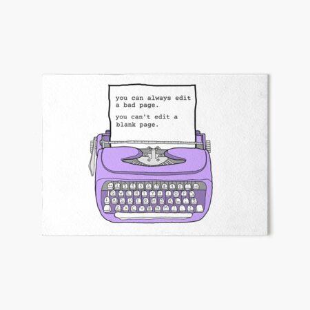 Purple Typewriter - Motivational Writing Quotes Art Board Print