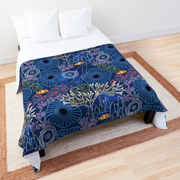 Coral Reef with Clown Fish Comforter