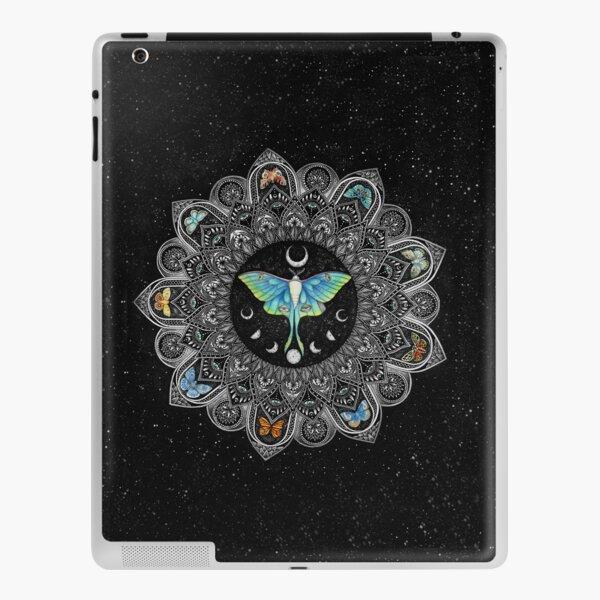 Lunar Moth Mandala with Background iPad Skin