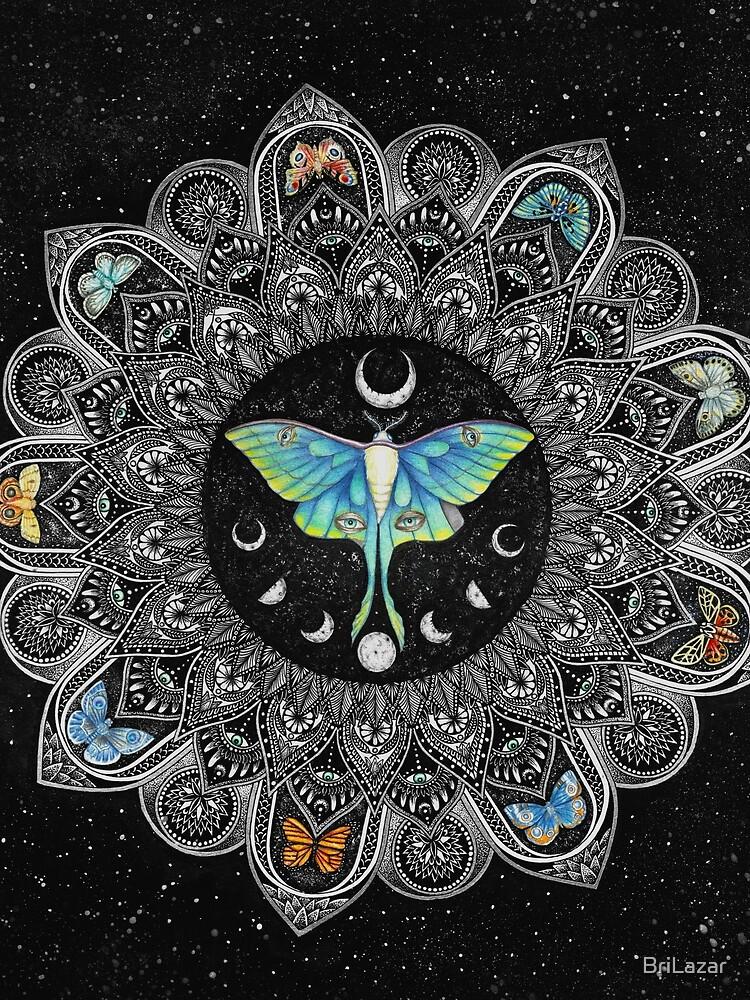 Lunar Moth Mandala with Background by BriLazar