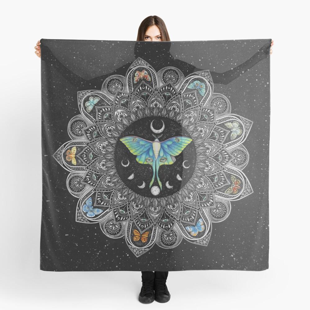 Lunar Moth Mandala with Background Scarf