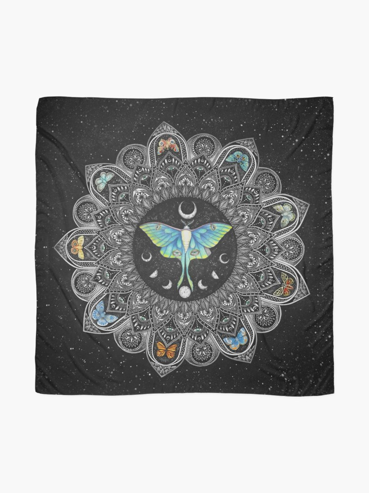 Alternate view of Lunar Moth Mandala with Background Scarf
