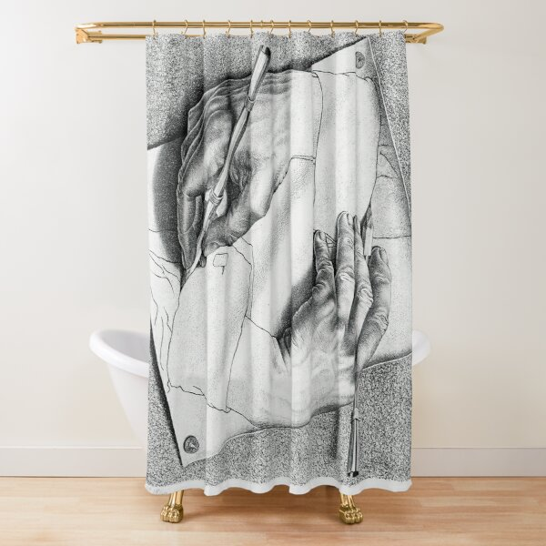 Drawing Hands Shower Curtain