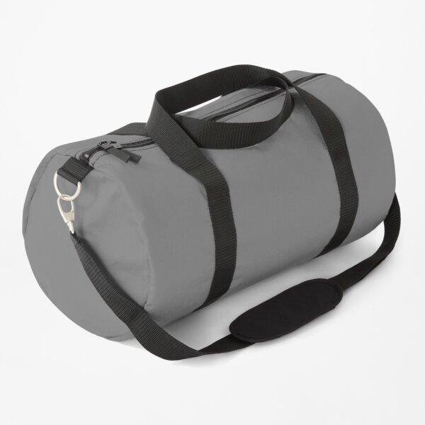 Gray Plain Solid Colour - Classic Grey Duffle Bag