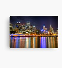 Melbourne Skyline Reflections Canvas Print