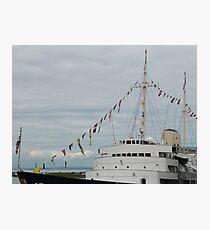 HMY Britannia flags Photographic Print