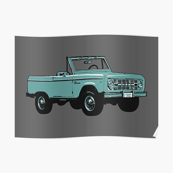 65-77 Blue Bronco Poster