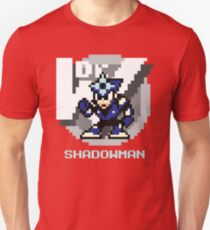 Shadow Man with Ice Blue Text T-Shirt