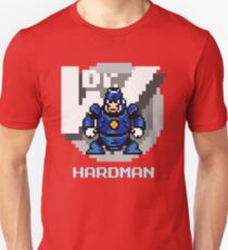 Hard Man with Ice Blue Text T-Shirt
