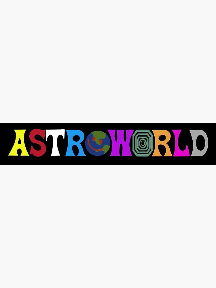 """Astroworld logo sticker"" Sticker by sadowskii | Redbubble"