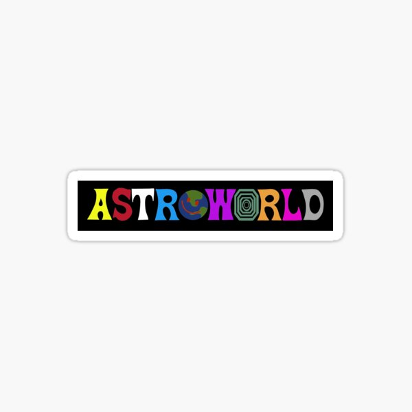Astroworld logo sticker Sticker