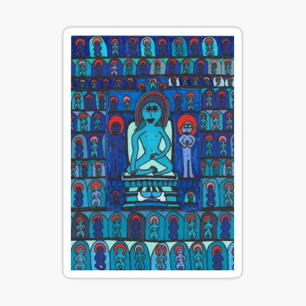 A Blue Buddhist Piece Sticker